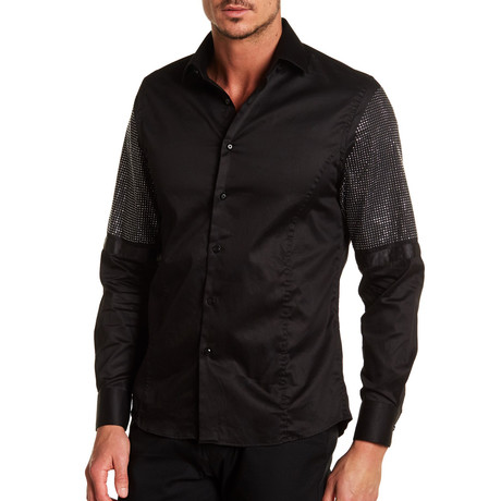 Keiffer Solid Dress Shirt // Black (S)