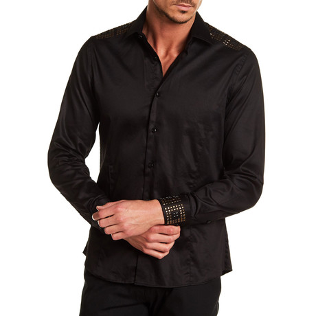 Oliver Solid Dress Shirt // Black (S)