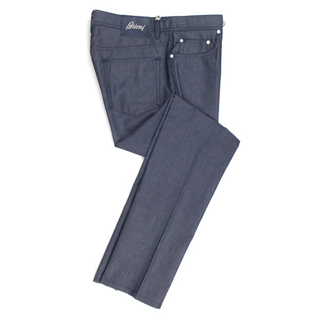 Brioni Livigno Slim Fit Denim // Gray (37WX35L)