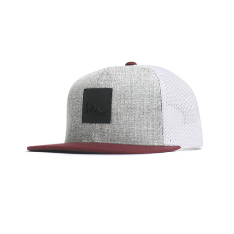 Lark Trucker // Grey Heather + Maroon + White