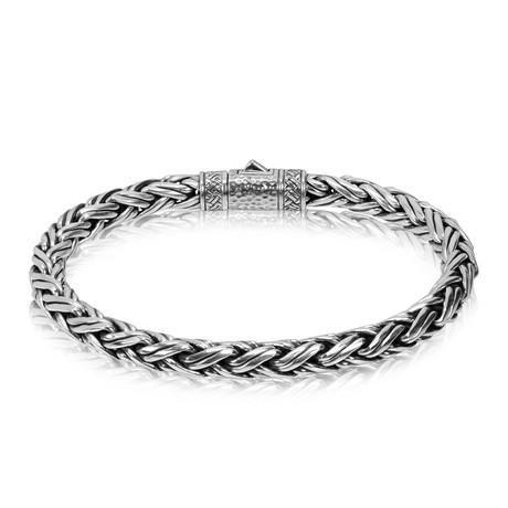 Contemporary Silver Chain Bracelet