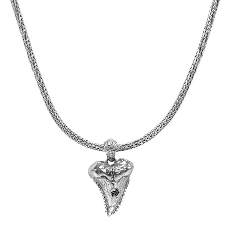 Shark Tooth Necklace // Silver
