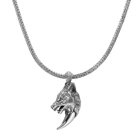 Wolf's Fang Necklace // Silver