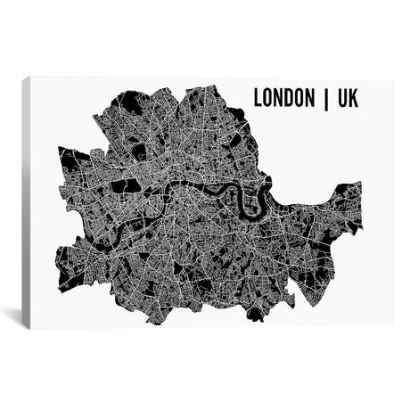 "London Map // Mr. City Printing (40""W x 26""H x 1.5""D)"