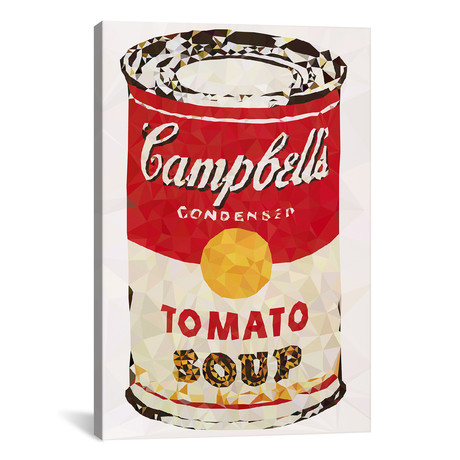 "Campbell's Soup Can Derezzed // 5by5collective (18""W x 26""H x 0.75""D)"
