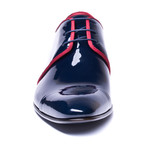 Boarder Block Loafer // Navy + Red (Euro: 44)