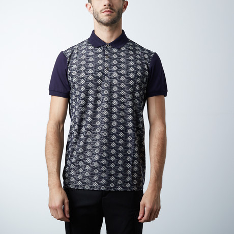 Classic Polo Shirt // Fit Print // Beige