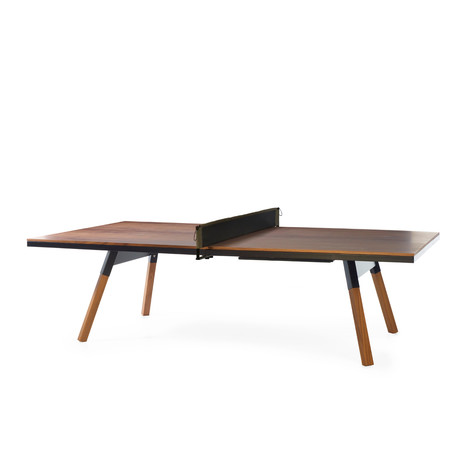 You and Me Indoor Ping-Pong Table // Standard // Walnut (Black)