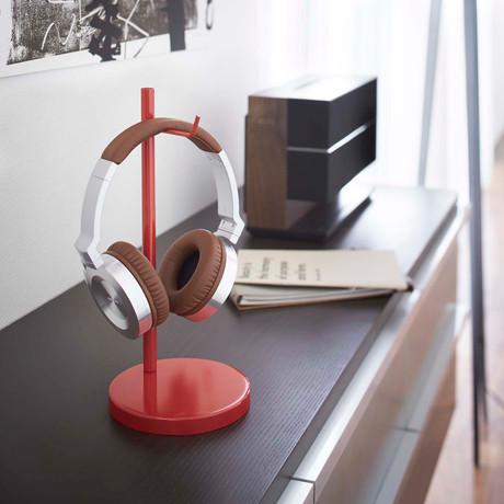 Bautes // Round Headphone Stand (Red)