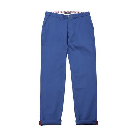 Script Stretch Chino Pant // Bright Blue (28WX32L)