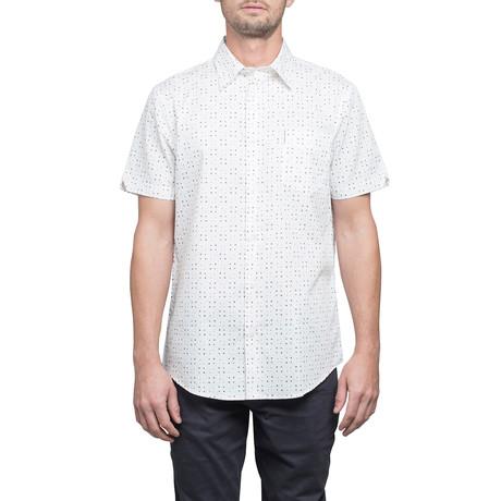 Short Sleeve Scattered Geo Print Shirt // Off White