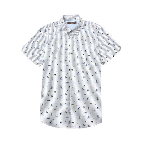 Short Sleeve Park Life Print Shirt // White