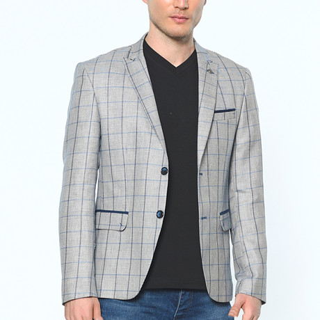 Riley Diagonal Blazer // Dark Blue (Small)
