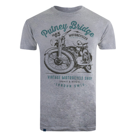 Motorcycle Shop T-Shirt // Gray Marl (S)
