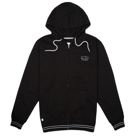 Richmond Zip Hood // Black (S)