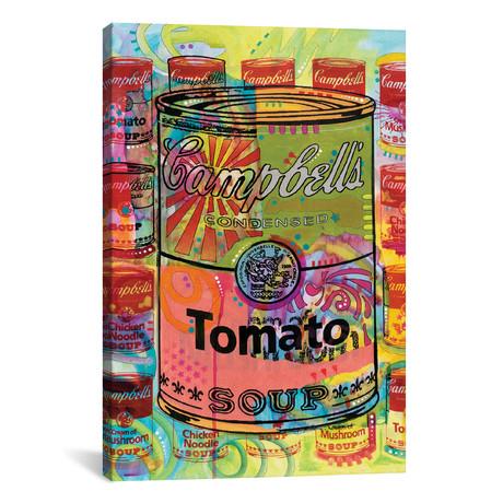 """Tomato Soup // A Homage To Steve Kaufman // Dean Russo (18""""W x 26""""H x 0.75""""D)"""