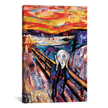 """The Scream (Homage To Munch) // James Grey (26""""W x 40""""H x 1.5""""D)"""