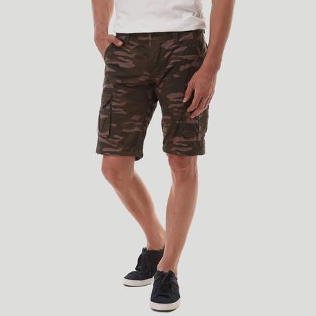 Cargo Bermuda Shorts // Army + Sand (40)
