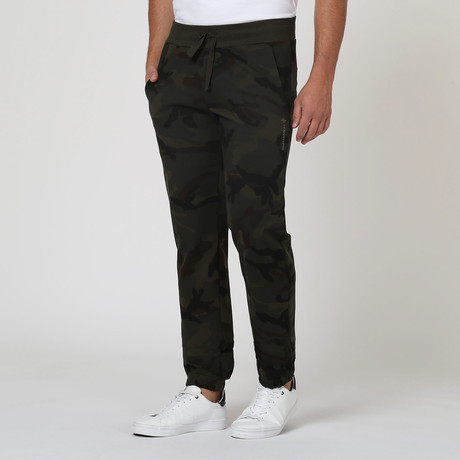 Draw-String Pants // Army Green + Camo (S)