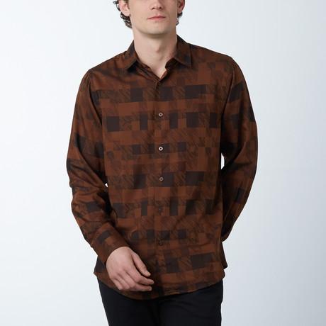 Artur Button-Up Shirt // Brown (M)