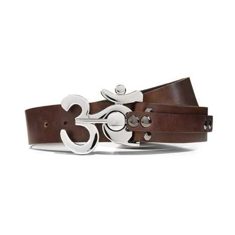 Polished Ohm Belt // Brown (32)