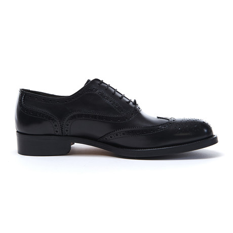 Wing Cap Oxford // Black (Euro: 40)