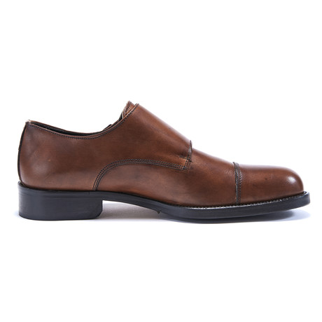 Toe Cap Monk Strap // Brown (Euro: 40)