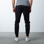 Slim-Fit French Terry Joggers // Black (M)