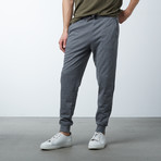 Slim-Fit French Terry Joggers // Charcoal (L)