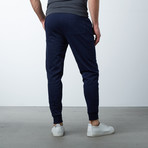 Slim-Fit French Terry Joggers // Navy (XL)
