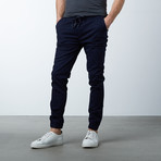 Cotton Stretch Twill Joggers // Navy (M)