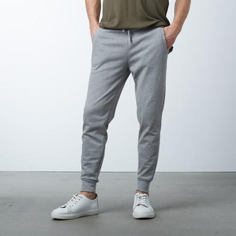 Cotton Stretch Twill Joggers // Dark Grey