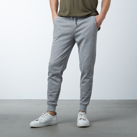 Cotton Stretch Twill Joggers // Dark Gray (S)