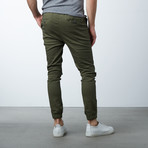 Cotton Stretch Twill Joggers // Olive (2XL)