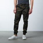 Cotton Blend Twill Cargo Joggers // Woodland (XL)