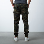 Cotton Blend Twill Cargo Joggers // Woodland (M)
