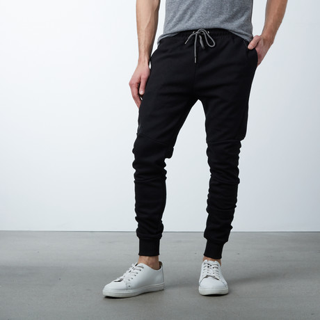 Moisture Wicking Track Pants // Black (S)