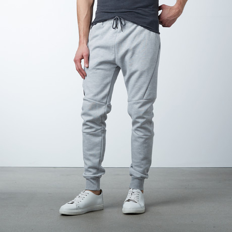 Moisture Wicking Track Pants // Heather Gray (S)