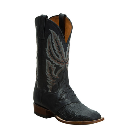 Horseman Hornback Crocodile Boot // Black
