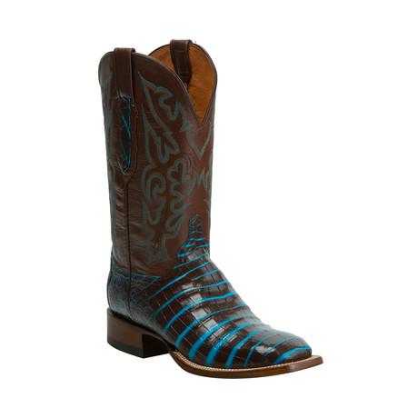 Caiman Belly Horseman Western Boot // Sienna