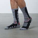 Compression Tall Ski Socks (Black)