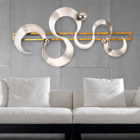 NOVA - Abstract Metal Wall Art - Touch of Modern