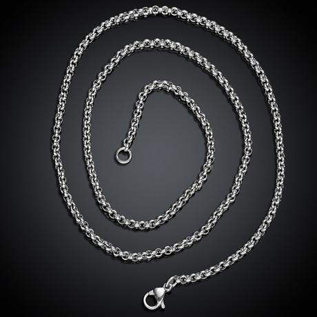 Box Chain Necklace // Silver