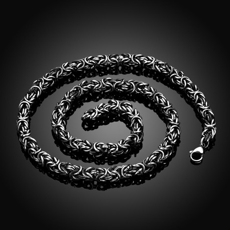 Solid Byzantine Chain Necklace