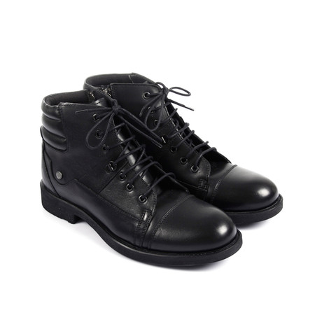 Sacramento Leather Boot // Black