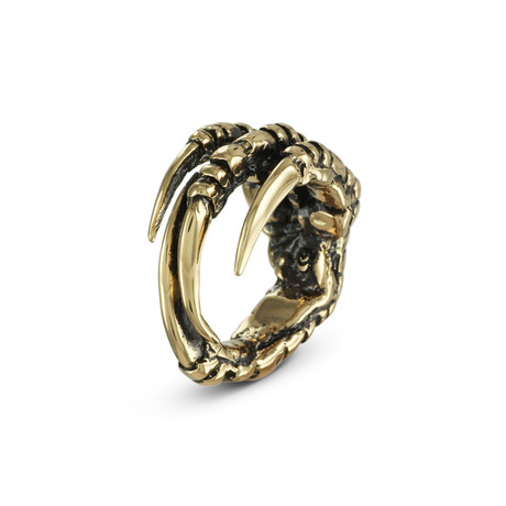 Crow Claw Ring // Bronze (Size 8)