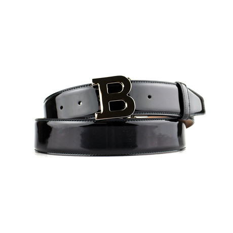 B Buckle Patent Leather Belt