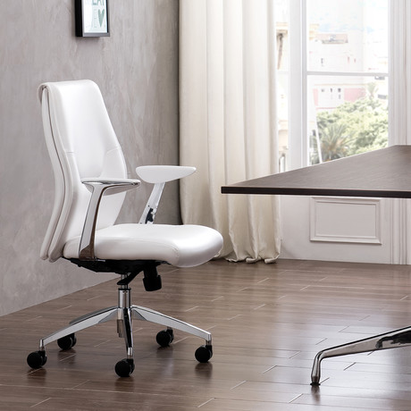 Arena // Arm Office Chair (White)