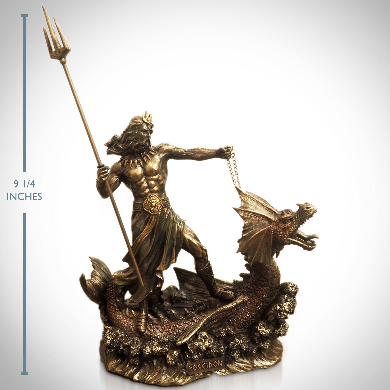 Greek God Of The Sea Poseidon Hippocampus // Cast Bronze ...