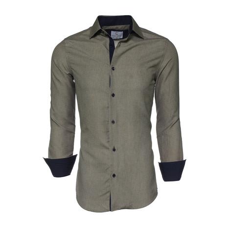 Jack Printed Button-Up Shirt // Navy